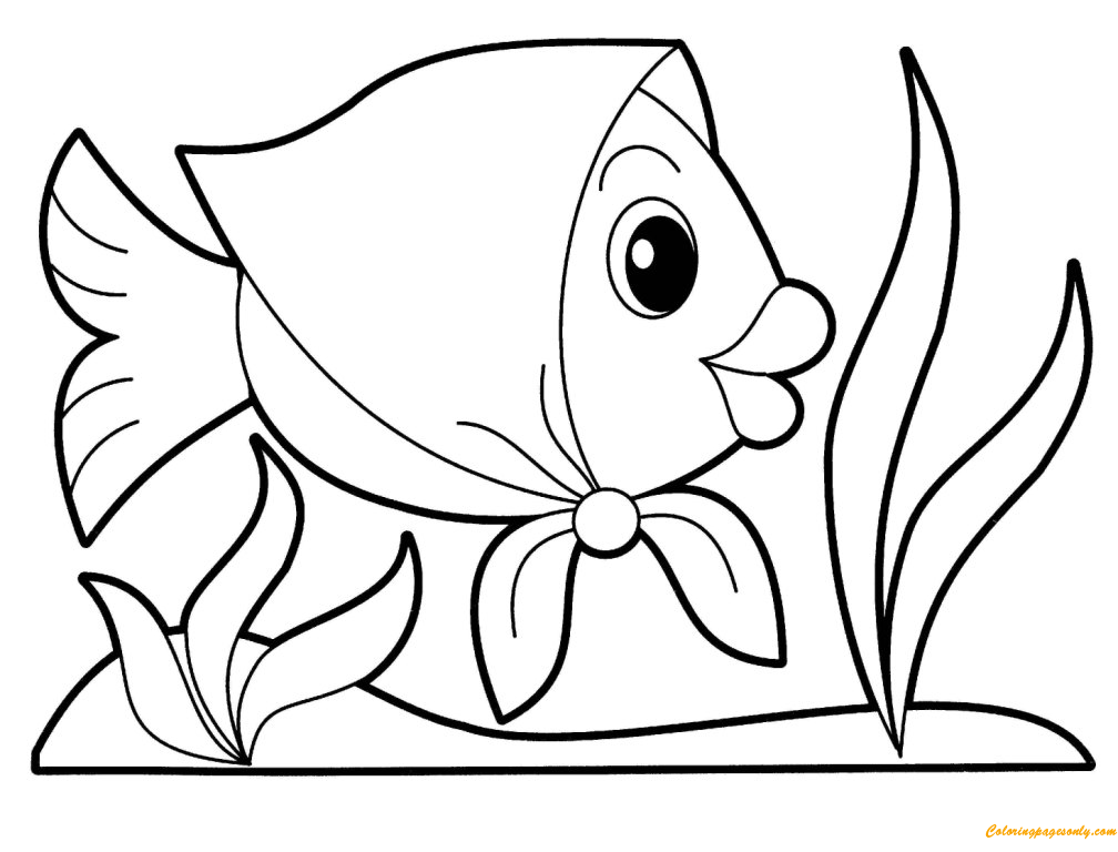 free coloring pages fish simple fish coloring pages download and print for free pages fish free coloring