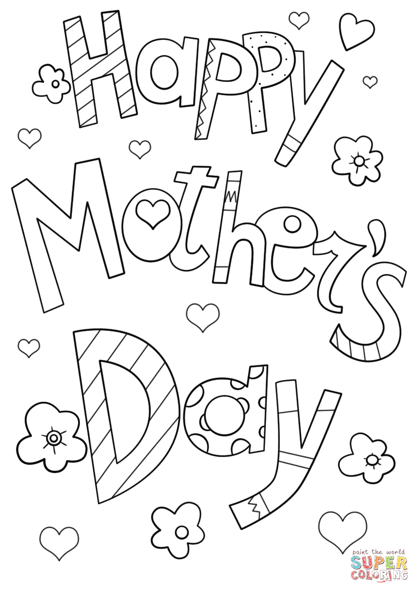 free coloring pages mothers day mother day coloring pages to download and print for free day pages coloring free mothers