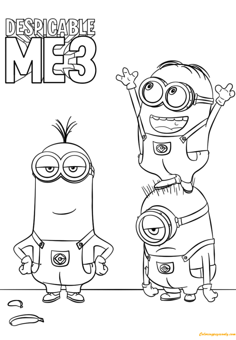 free despicable me coloring pages fun learn free worksheets for kid despicable me 2 pages despicable coloring me free