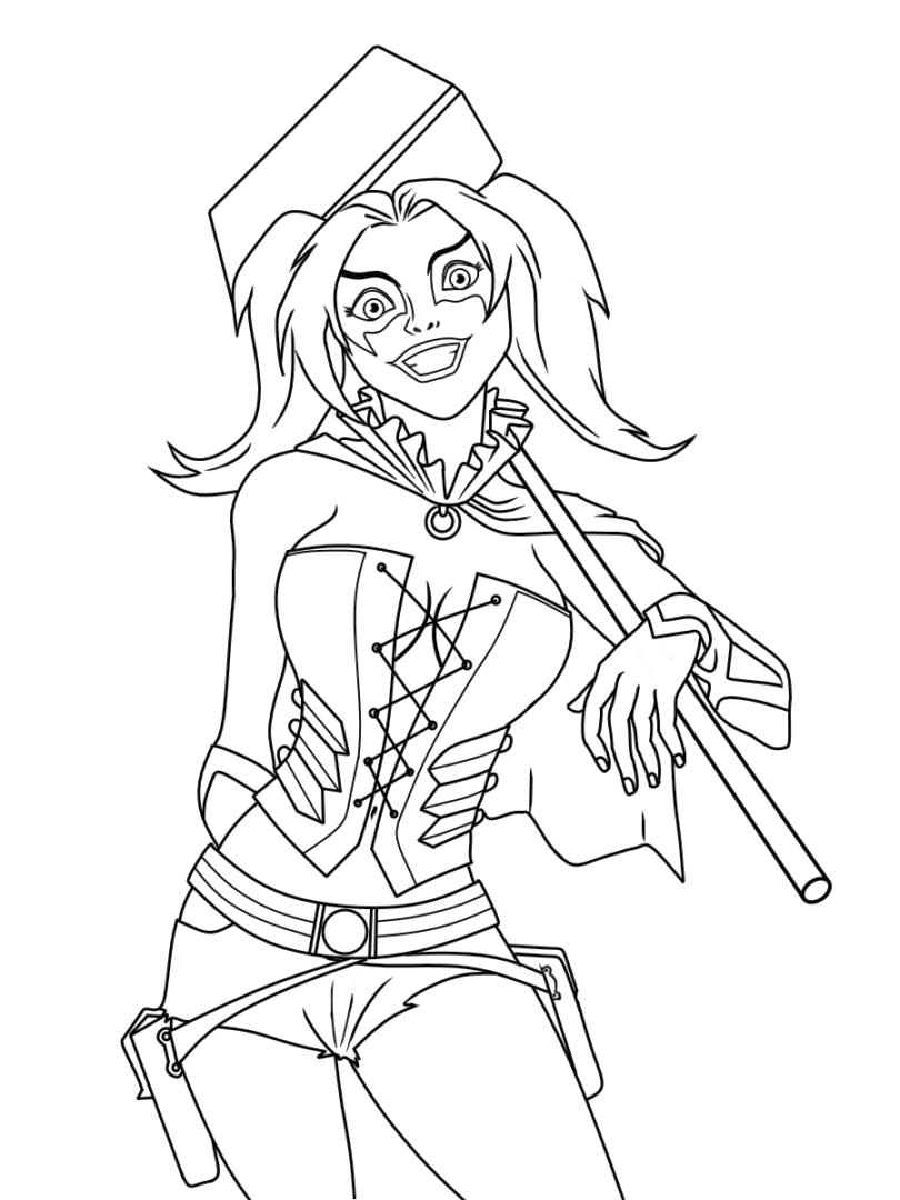 free harley quinn coloring pages 20 free printable harley quinn coloring pages quinn pages coloring free harley