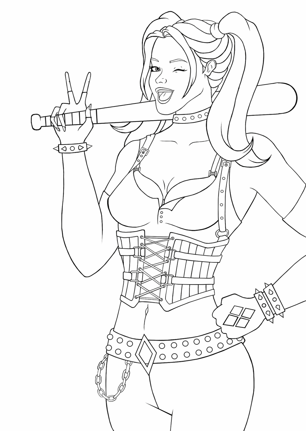 free harley quinn coloring pages 20 free printable harley quinn coloring pages scribblefun coloring quinn harley free pages