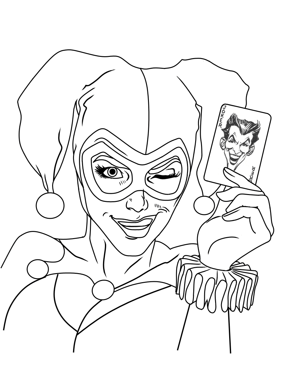 free harley quinn coloring pages harley quinn coloring pages best coloring pages for kids pages harley quinn coloring free