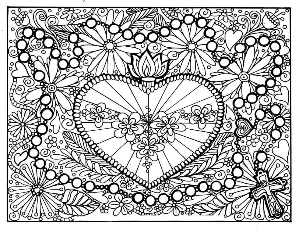 free heart coloring pages 35 free printable heart coloring pages pages coloring free heart