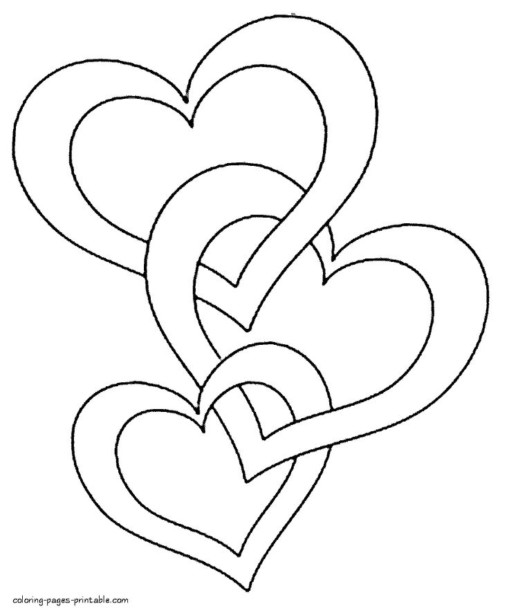 free heart coloring pages big heart coloring pages at getcoloringscom free coloring free heart pages