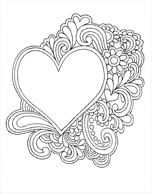 free heart coloring pages free 25 coloring pages in ai pdf free heart pages coloring