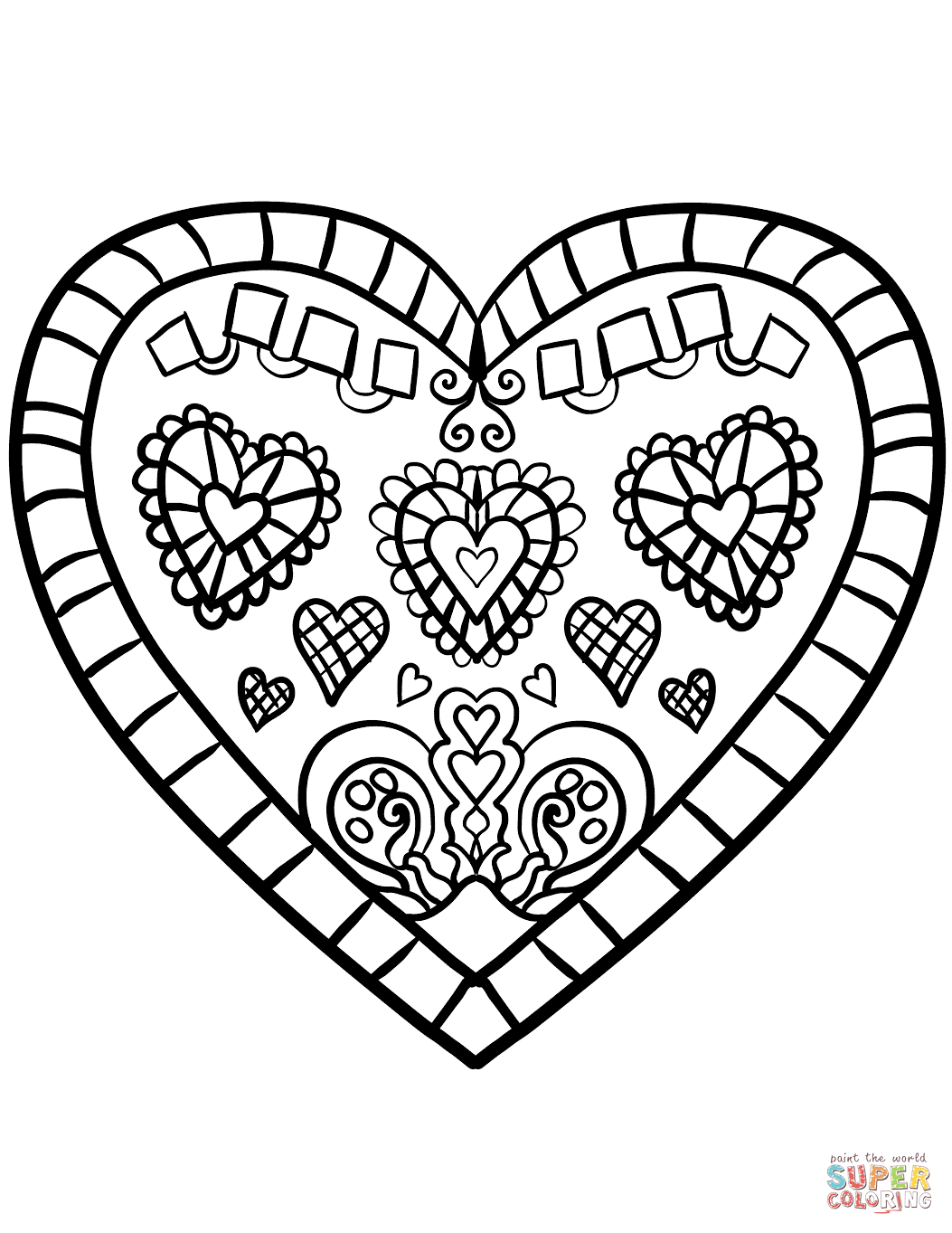 free heart coloring pages free printable heart coloring page mama likes this coloring free heart pages