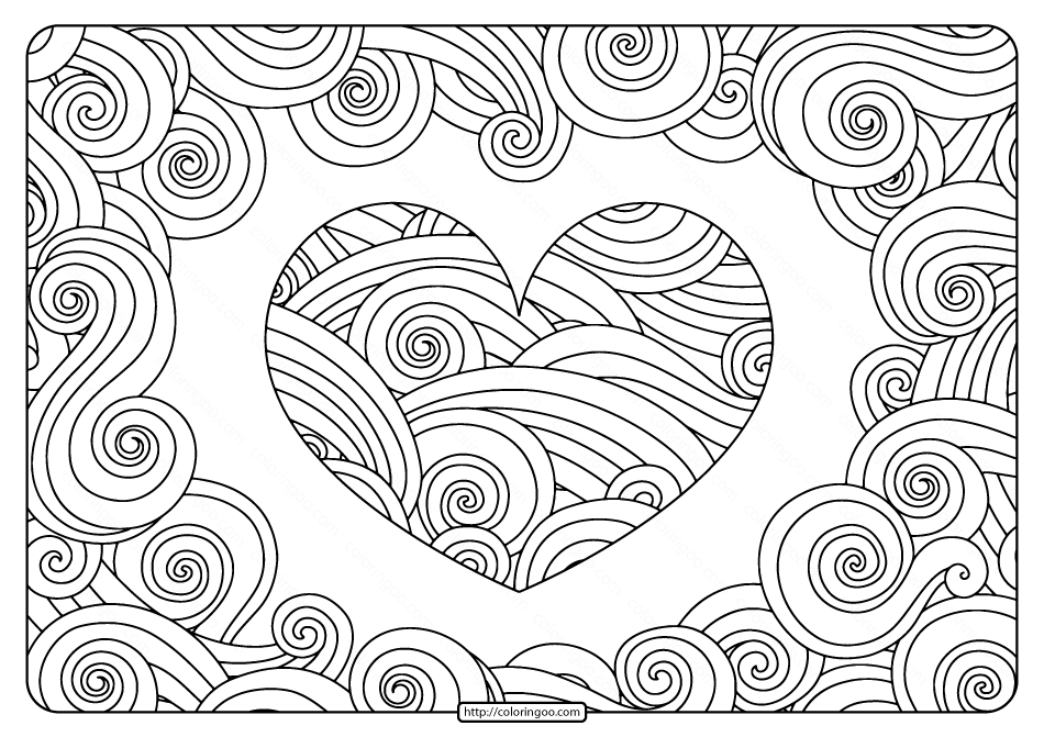 free heart coloring pages free printable swirly hearts pdf coloring page free coloring pages heart