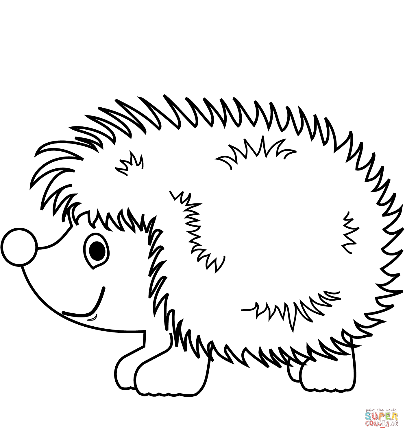 free hedgehog coloring pages cute hedgehog coloring page free printable coloring pages hedgehog free coloring pages