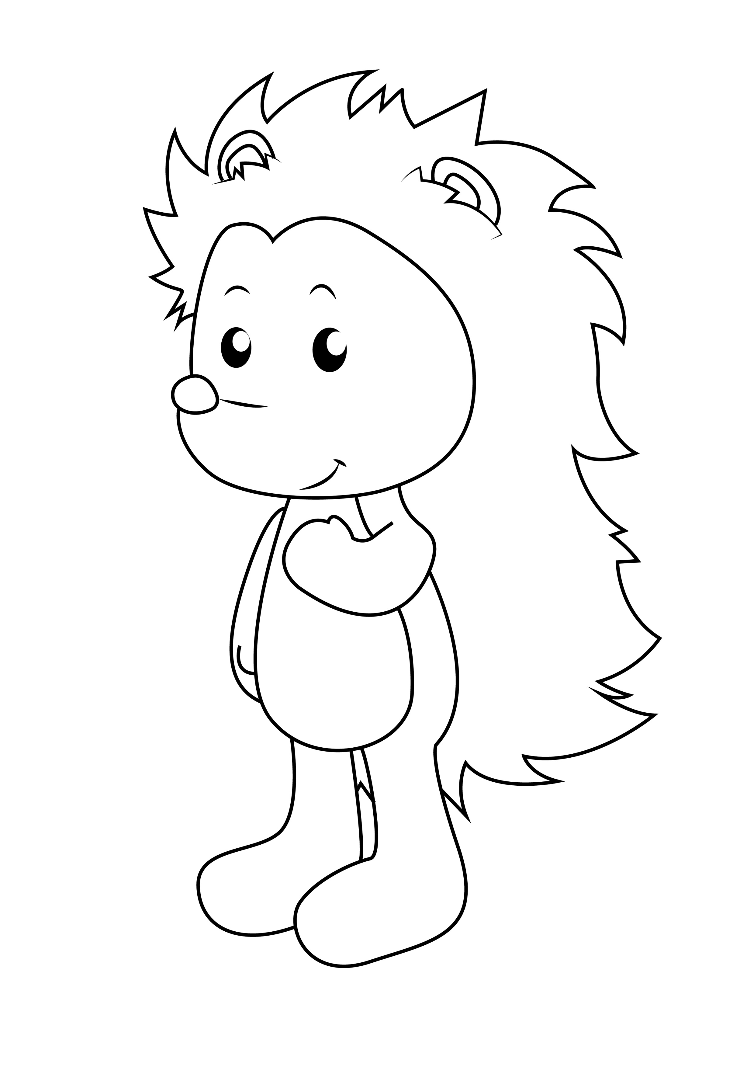 free hedgehog coloring pages hedgehogs free printable coloring and activity page for coloring pages hedgehog free