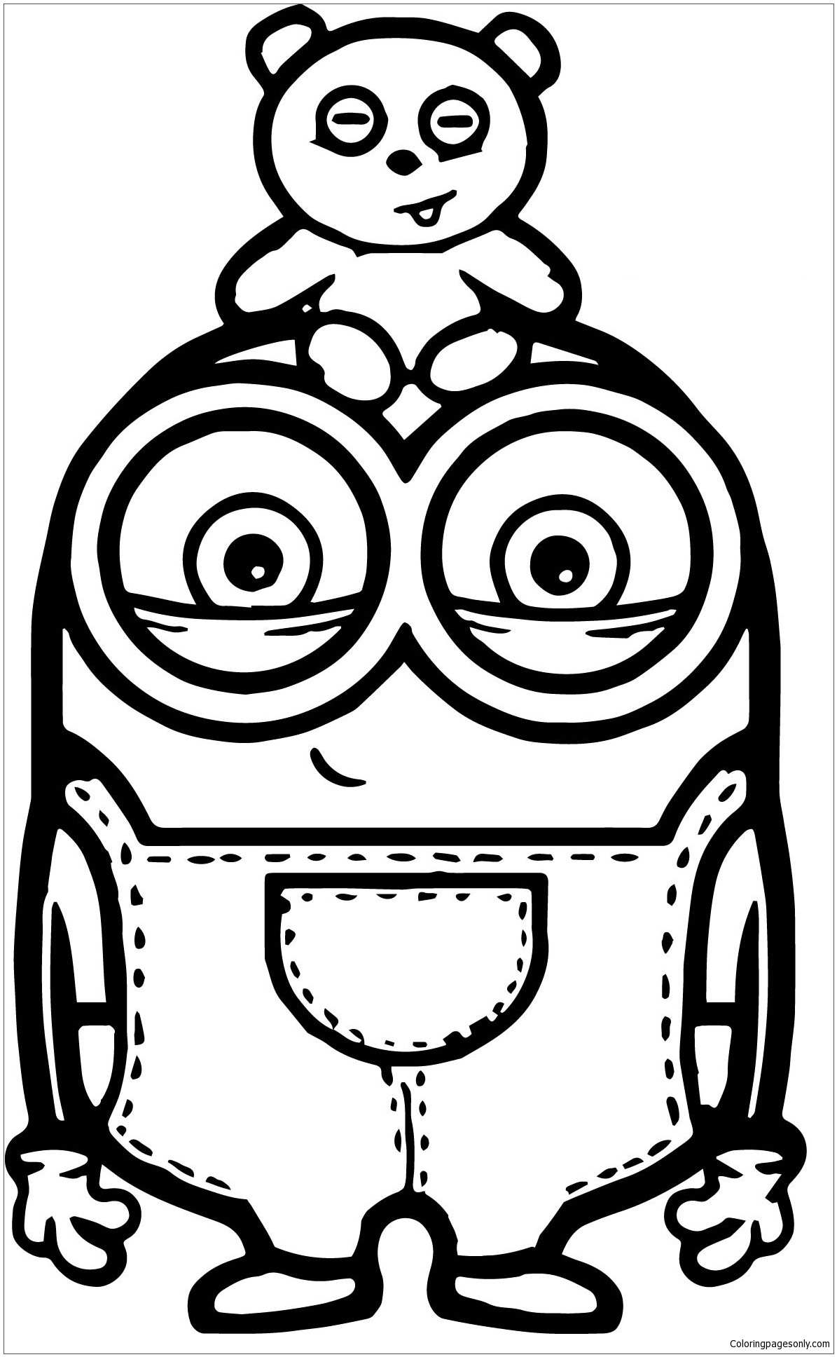 free minion coloring pages minion bob coloring pages coloring home coloring free pages minion