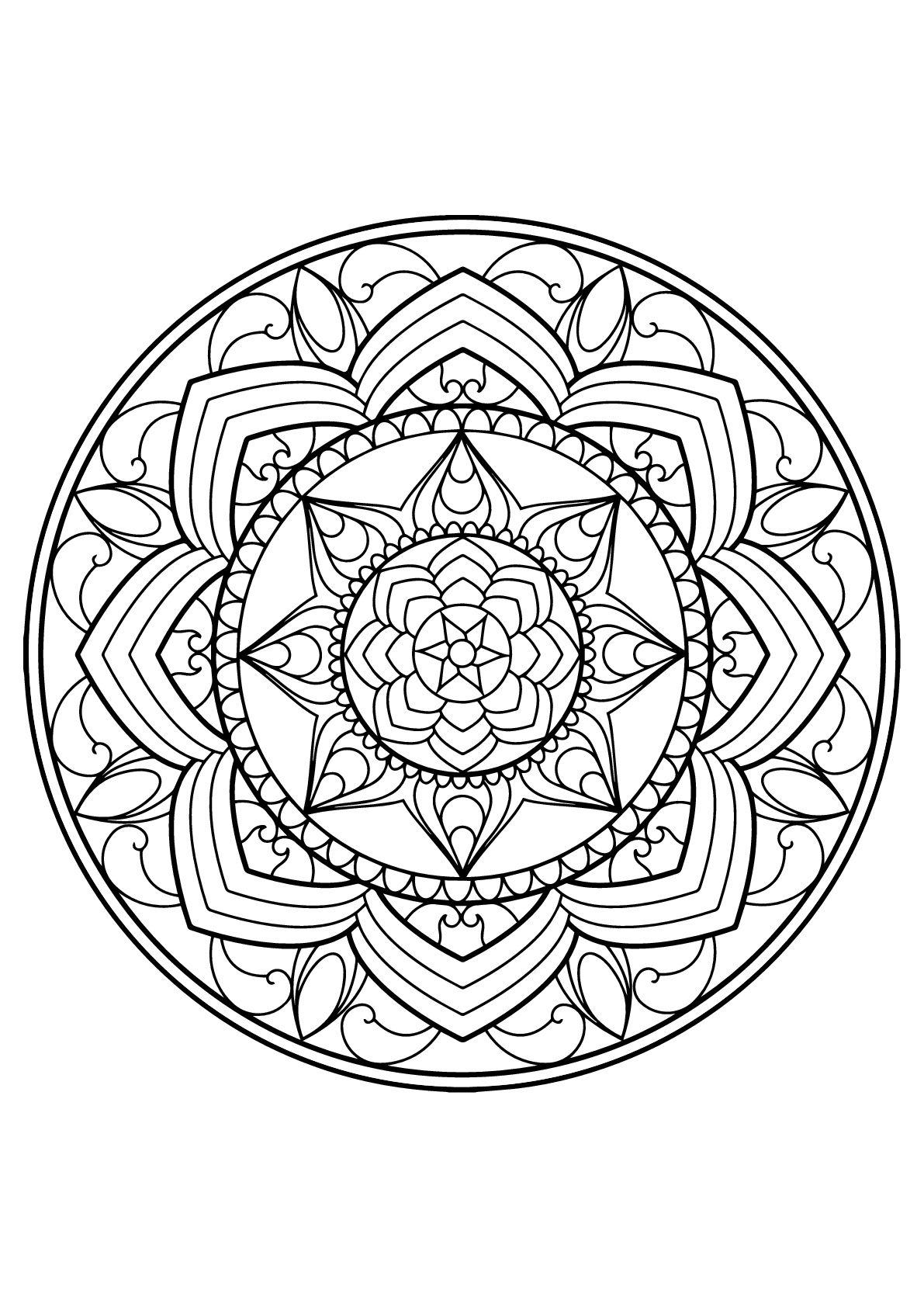 free printable mandalas for adults mandala from free coloring books for adults 14 mandalas free printable mandalas for adults