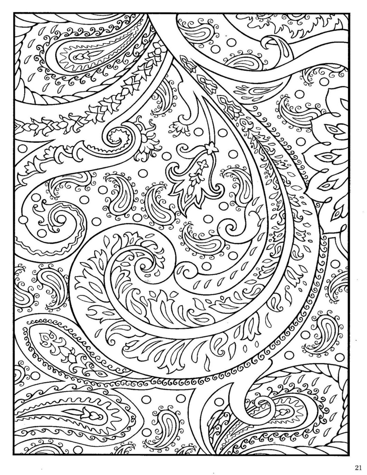 free printable paisley coloring pages easy paisley coloring pages at getdrawings free download free coloring printable paisley pages
