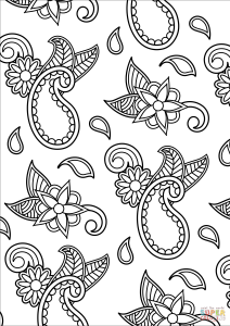 free printable paisley coloring pages easy paisley coloring pages to print free coloring sheets printable pages coloring paisley free