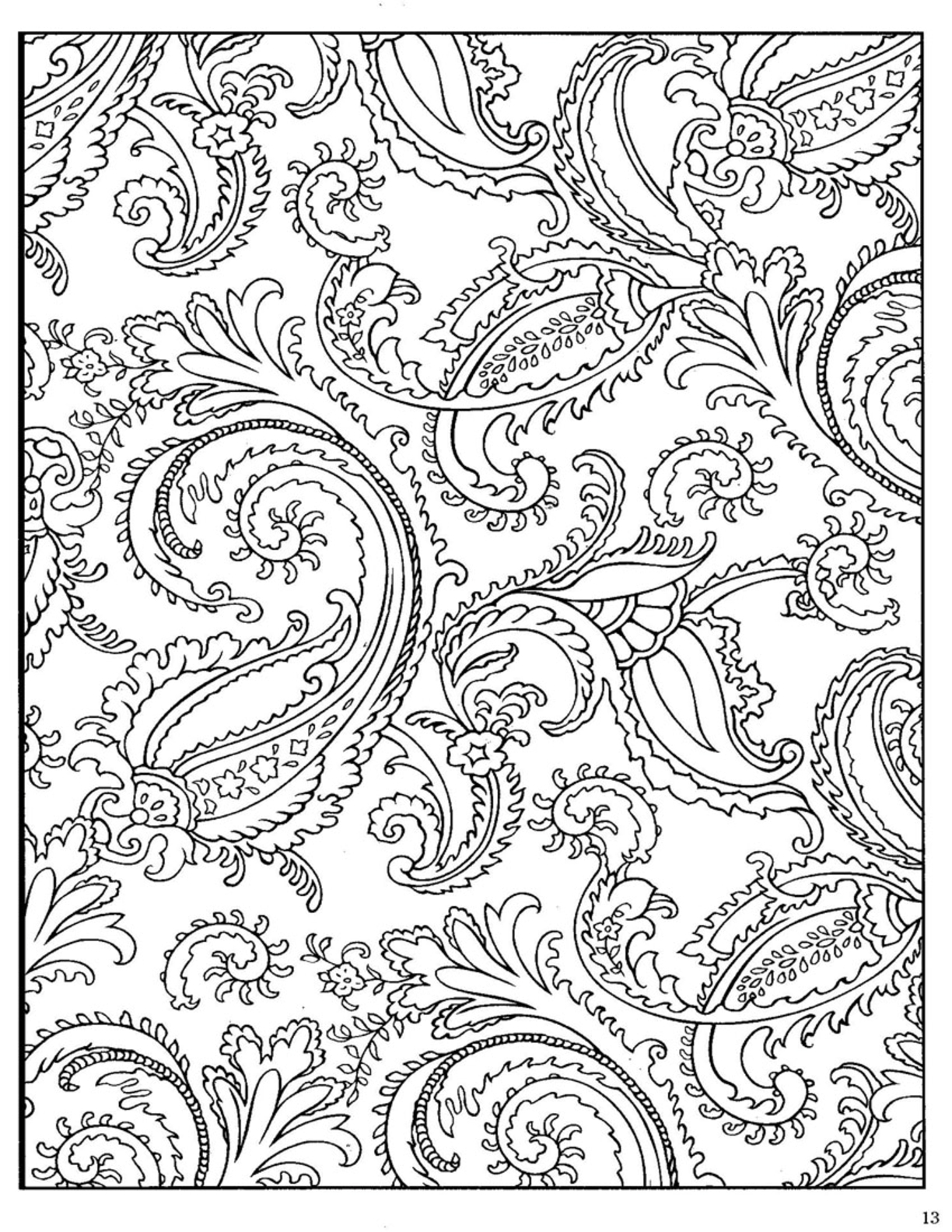 free printable paisley coloring pages ehowcom free printable coloring pages by sarah hamilton printable free pages paisley coloring