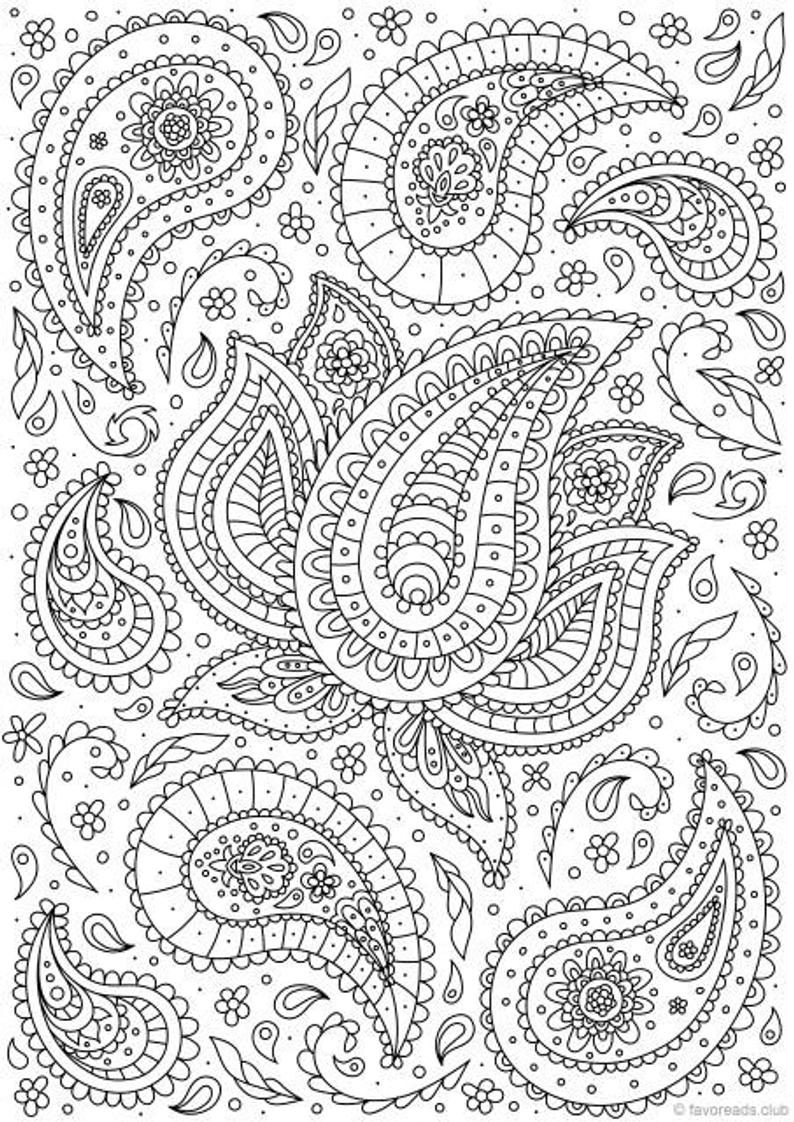free printable paisley coloring pages get this adult coloring pages paisley printable 7fps paisley coloring printable pages free
