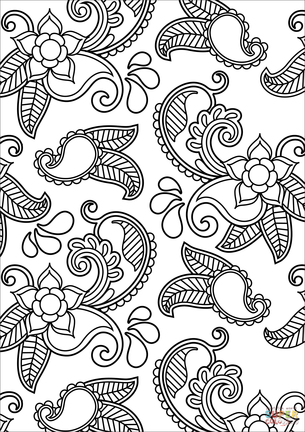 free printable paisley coloring pages paisley coloring page free printable coloring pages coloring paisley free printable pages