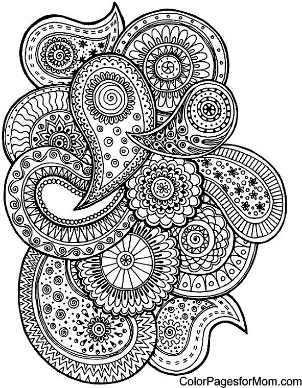 free printable paisley coloring pages paisley coloring page free printable coloring pages pages free paisley coloring printable