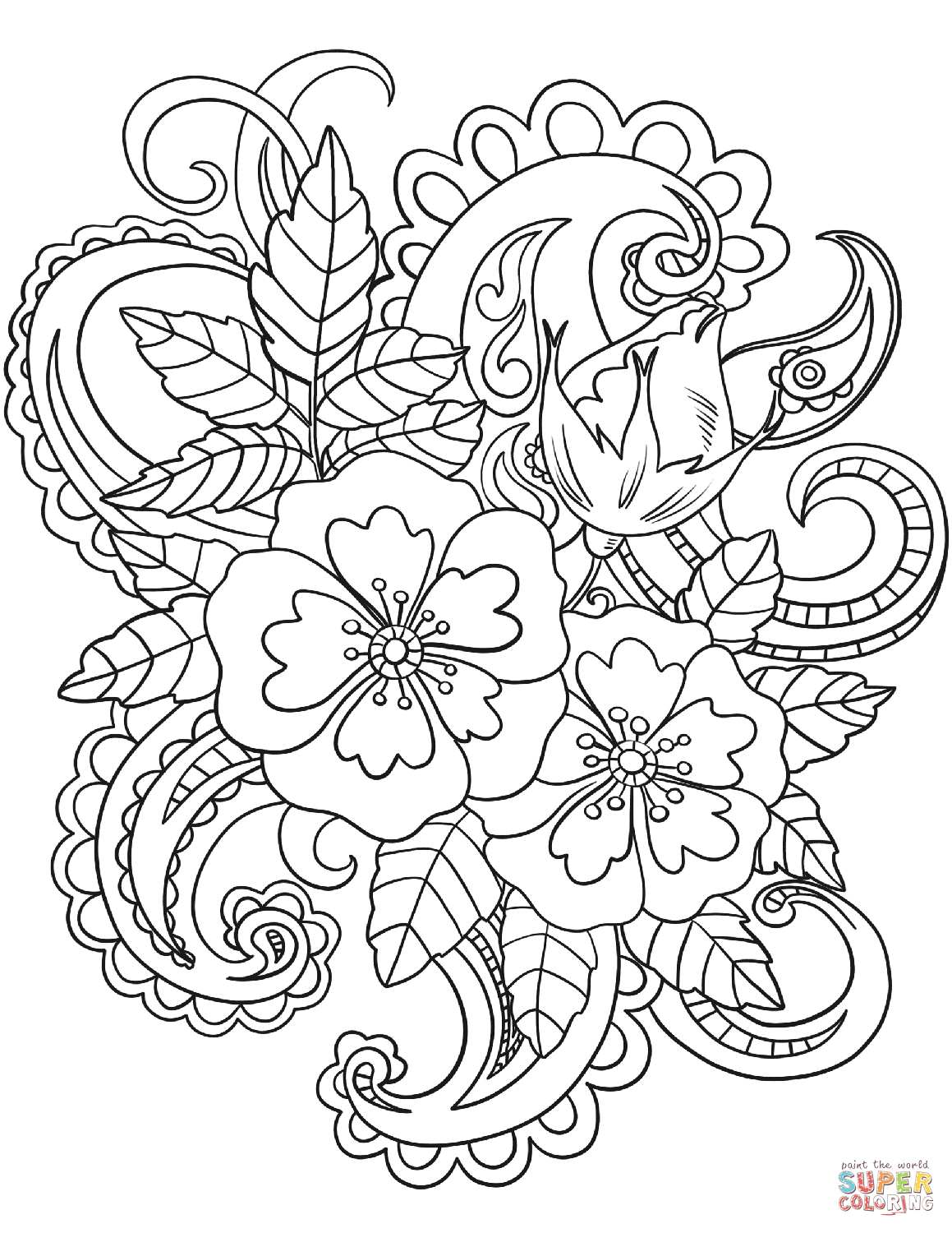 free printable paisley coloring pages paisley coloring page pages free coloring printable paisley