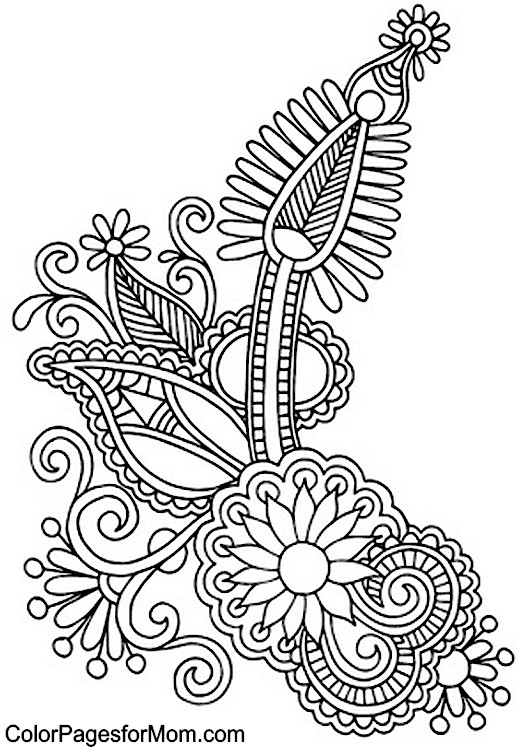 free printable paisley coloring pages paisley coloring page printable pages paisley coloring free