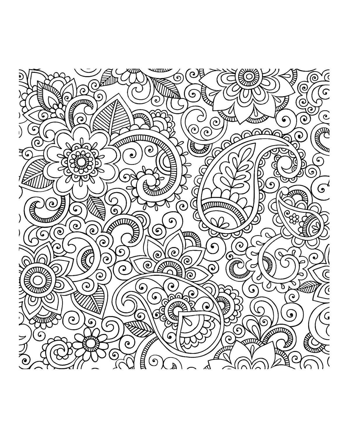 free printable paisley coloring pages paisley coloring pages coloring home printable paisley coloring free pages