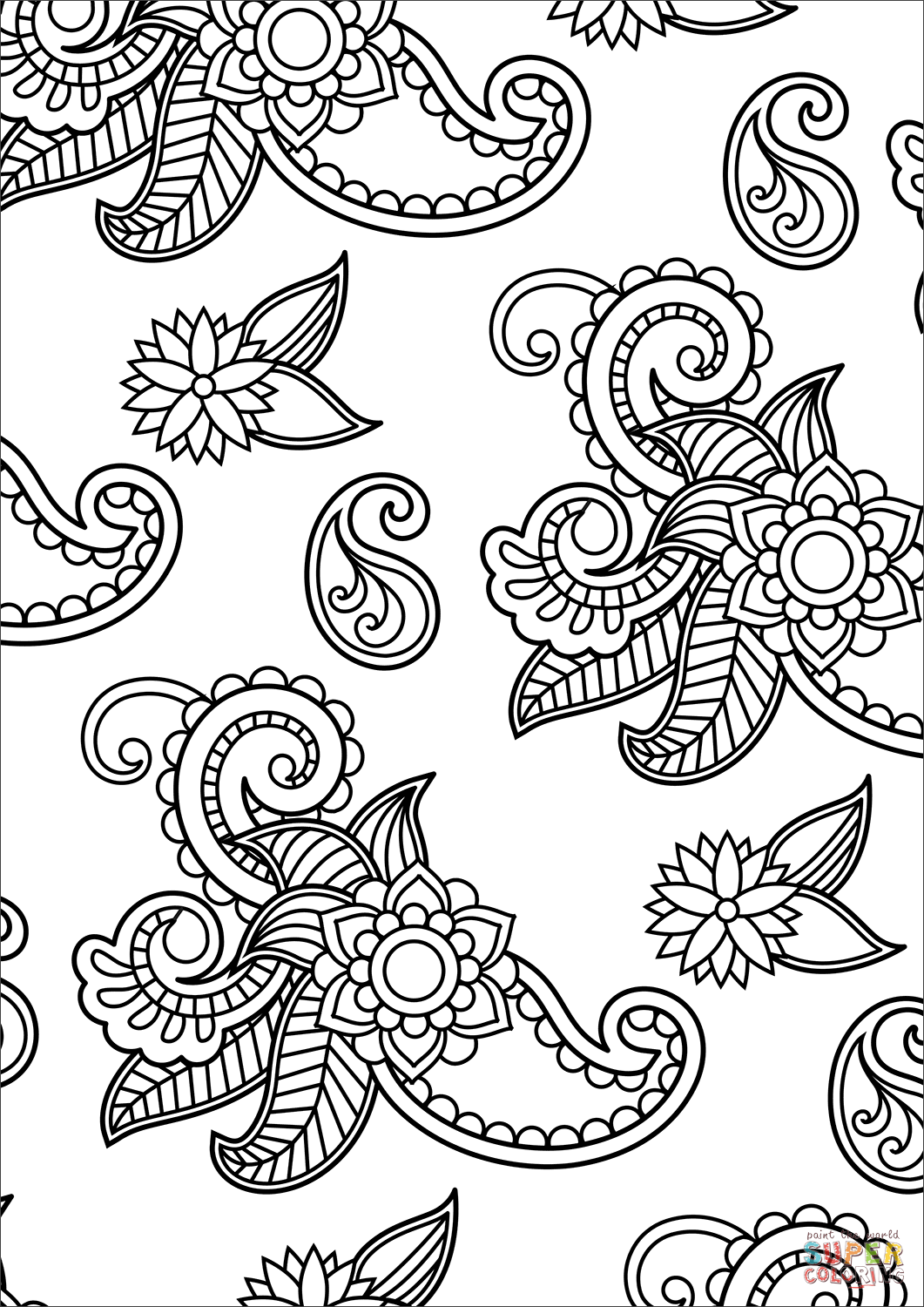 free printable paisley coloring pages paisley pattern coloring page free printable coloring pages printable paisley pages coloring free
