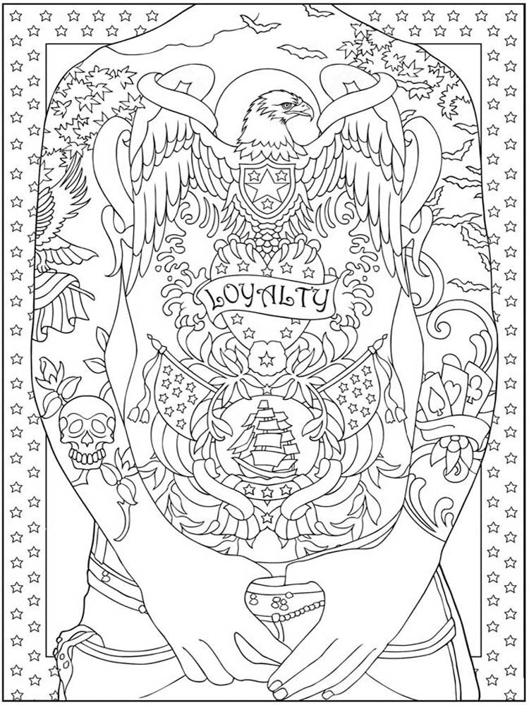 free tattoo coloring pages design coloring pages free download on clipartmag coloring pages free tattoo