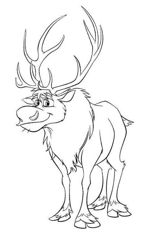 frozen sven coloring pages reindeer sven from frozen coloring page book sheet coloring frozen sven pages