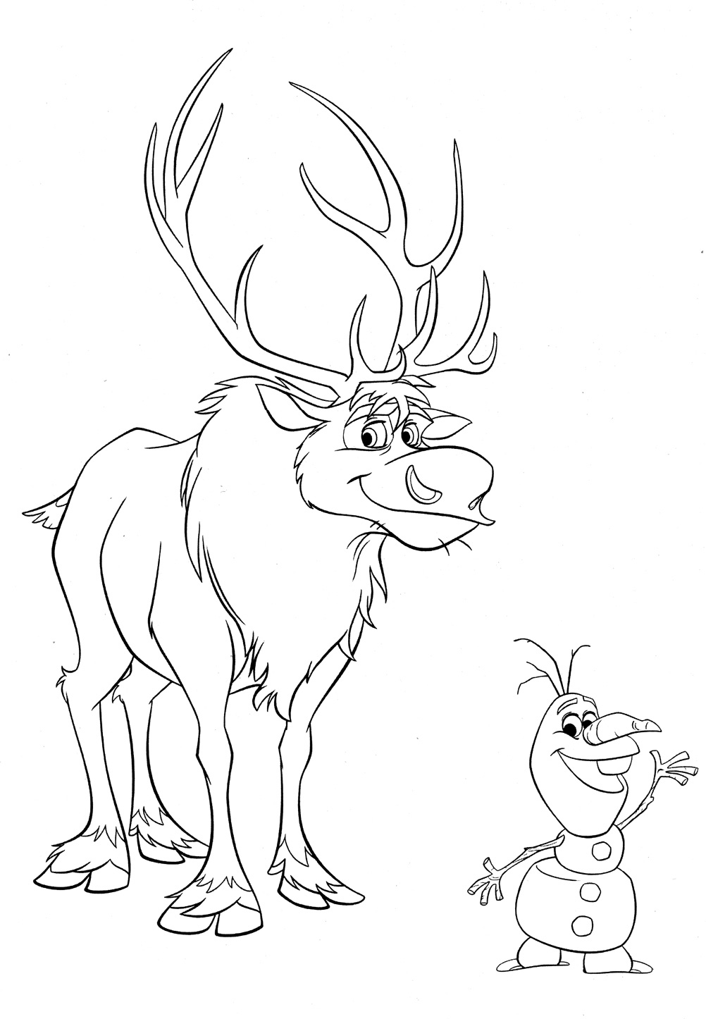frozen sven coloring pages sven at his barn coloring page download print online pages sven coloring frozen