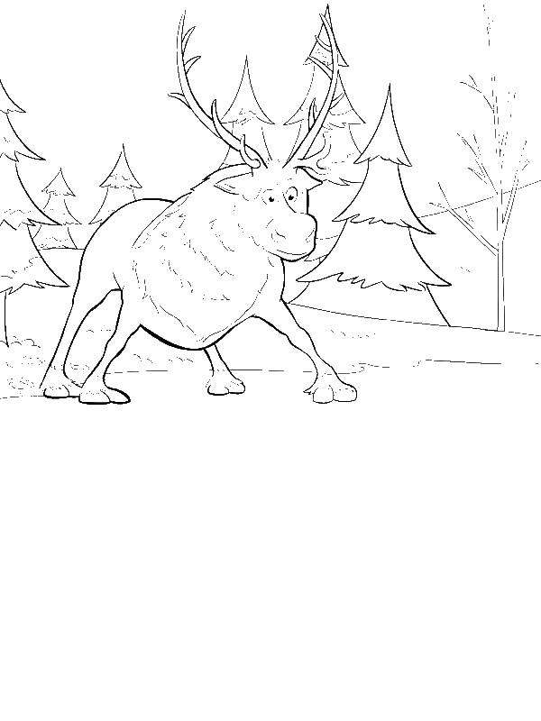frozen sven coloring pages sven from disney movie frozen coloring page download pages coloring frozen sven