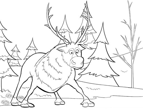 frozen sven coloring pages sven from disney movie frozen coloring page sven from pages frozen sven coloring