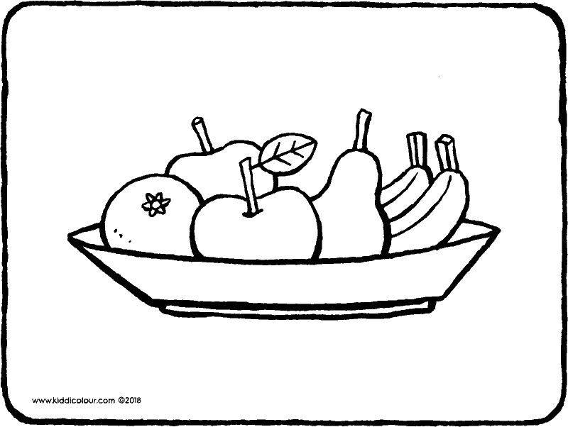 fruit bowl coloring page fruit bowl drawing at getdrawings free download page bowl coloring fruit