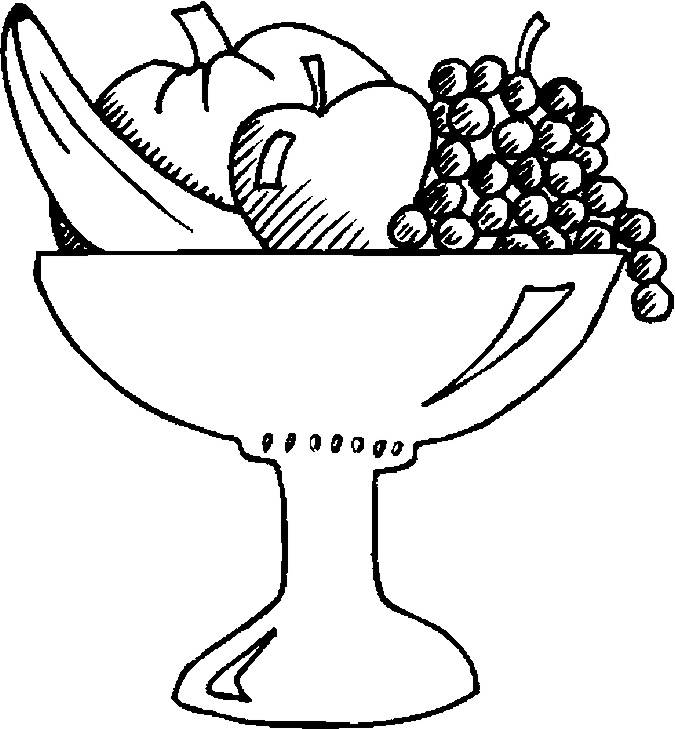 fruit bowl coloring page fruit bowl drawing at getdrawings free download page coloring bowl fruit