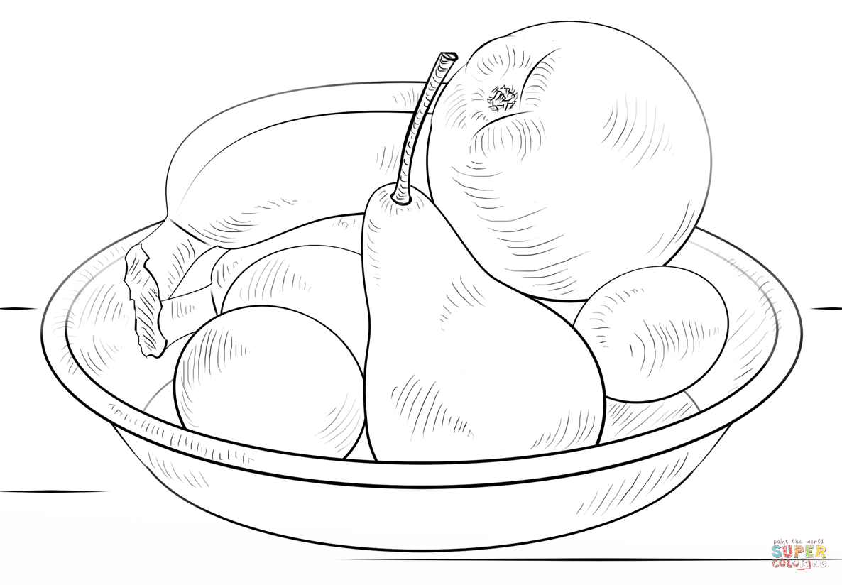 fruit bowl coloring page fruit bowl template fruit basket coloring pages fruit bowl coloring fruit page