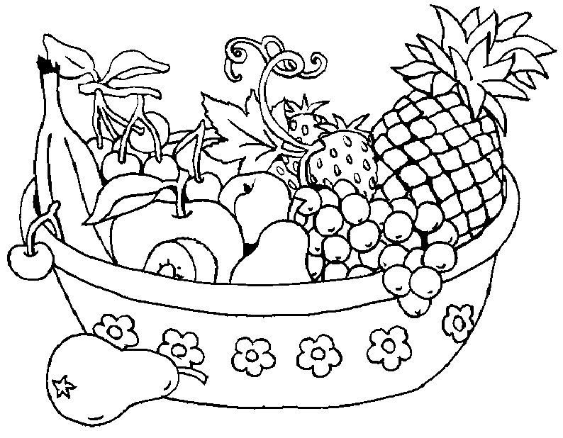 fruit bowl pictures to colour bowl of fruit coloring pages coloring pages to download to fruit pictures bowl colour
