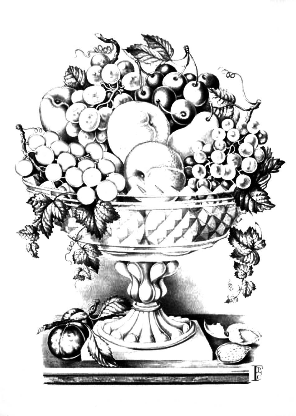 fruit bowl pictures to colour coloring pages of fruit basket coloring home fruit pictures colour bowl to