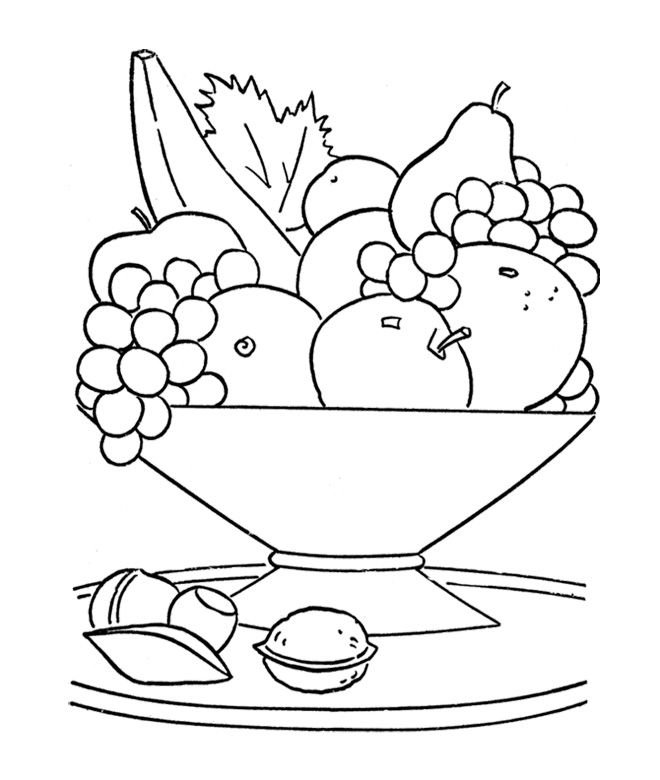 fruit bowl pictures to colour fresh fruit in the basket coloring page for kids fruit colour fruit pictures bowl to