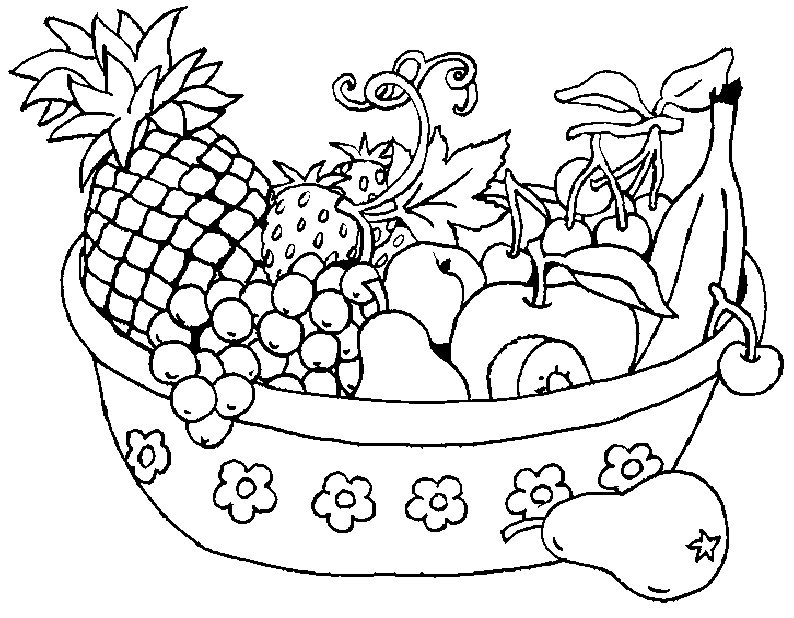 fruit bowl pictures to colour fruit bowl coloring coloring coloring pages colour bowl to fruit pictures