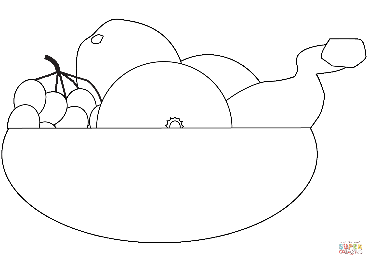 fruit bowl pictures to colour fruit bowl coloring page free printable coloring pages bowl fruit colour pictures to