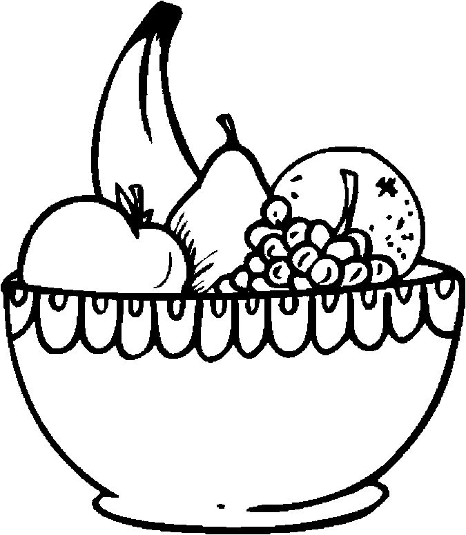 fruit bowl pictures to colour fruit colouring pages kiddicolour pictures bowl to colour fruit