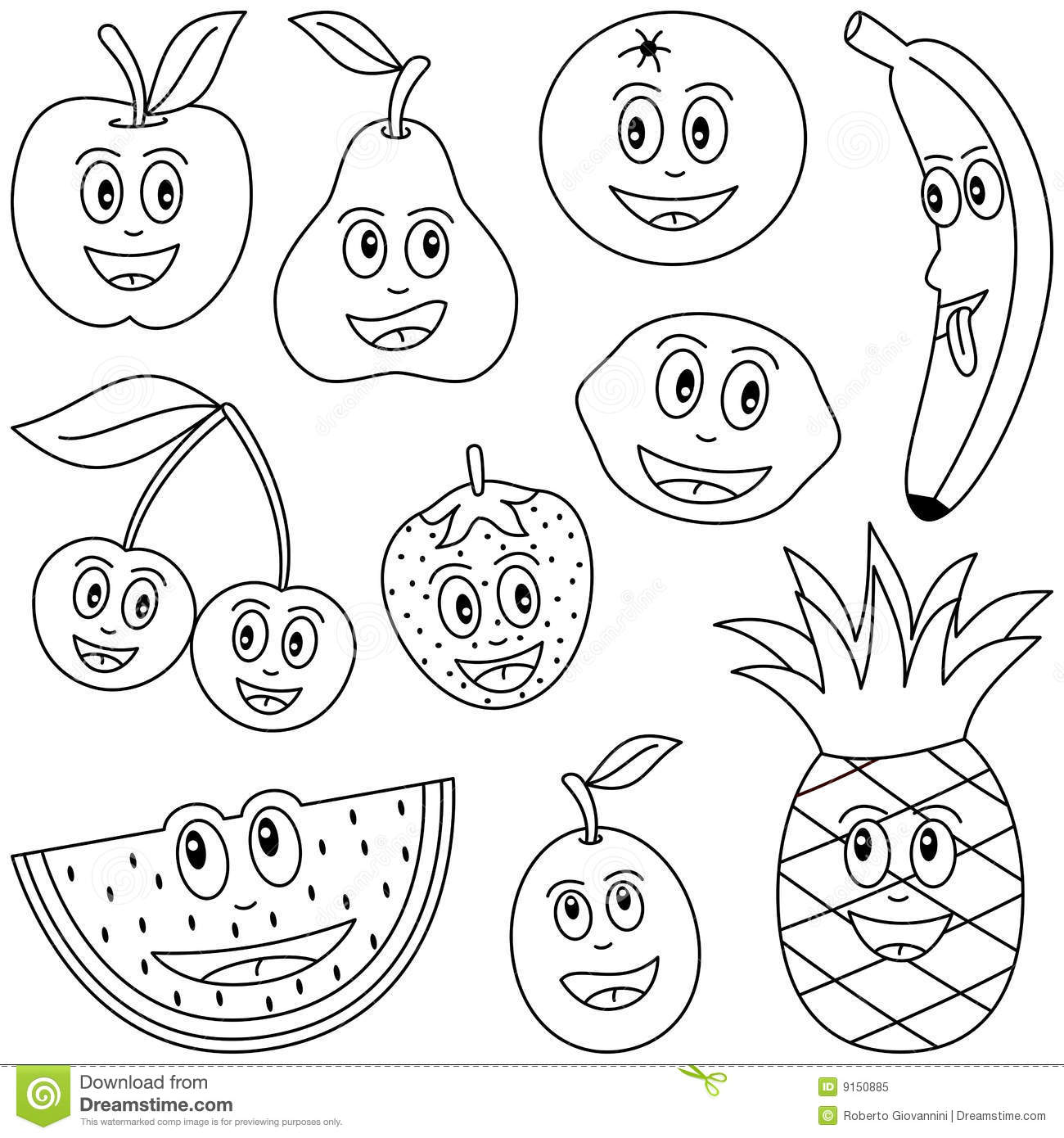 fruit coloring for kids delicious fruit coloring pages to print stpetefestorg coloring fruit kids for