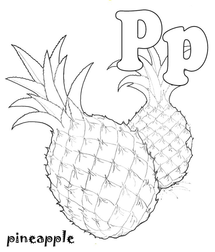 fruit coloring for kids p for pineapple fruit coloring pages fruit coloring kids fruit coloring for