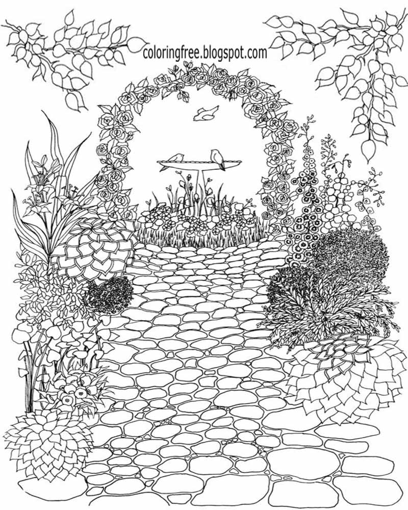 garden coloring page gardening coloring pages to download and print for free garden coloring page 1 1