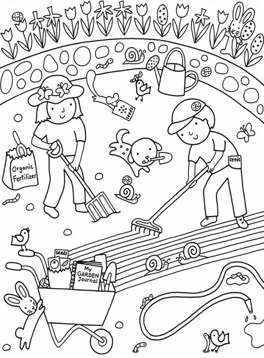 garden coloring page kids gardening coloring pages free colouring pictures to print page coloring garden