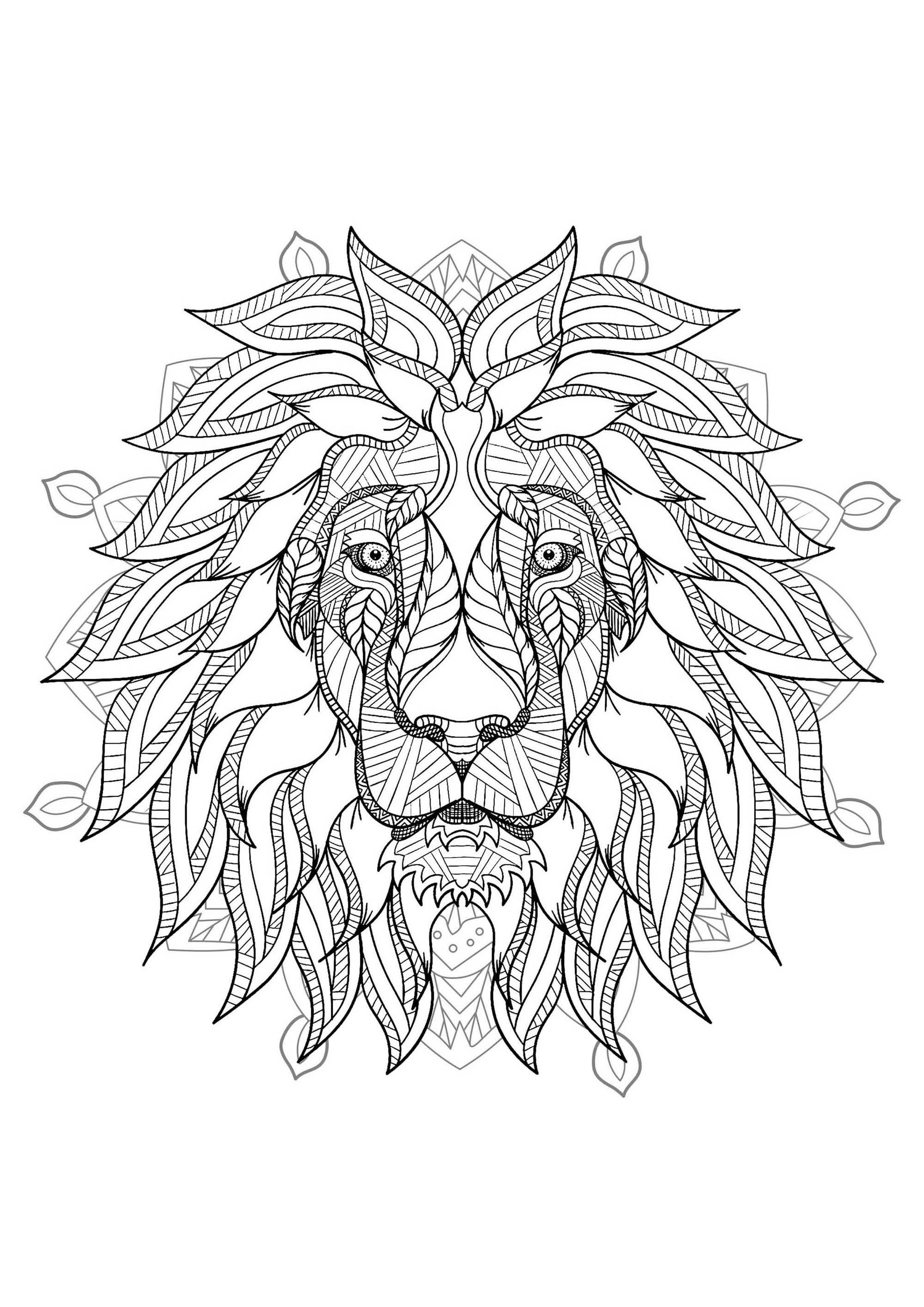 geometric lion coloring page geometric lion drawing at getdrawings free download coloring lion geometric page