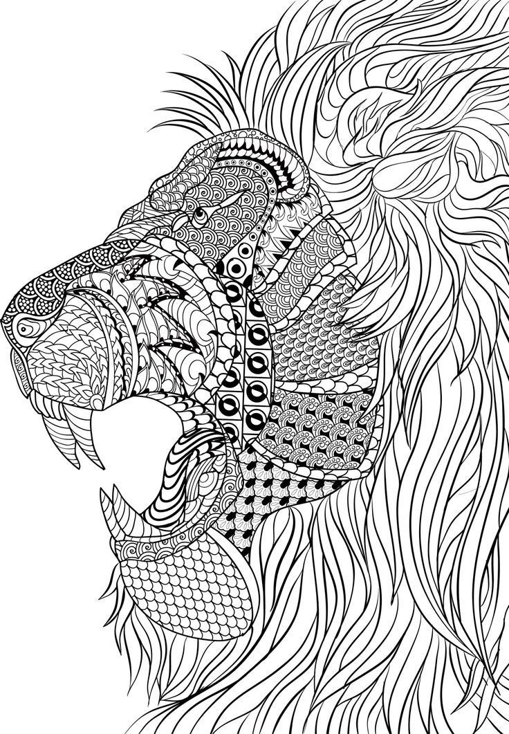 geometric lion coloring page king of the jungle zentangle geometric lion cool coloring page lion geometric