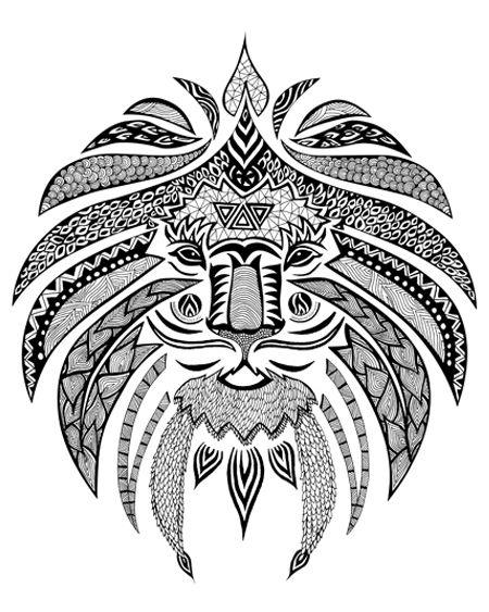 geometric lion coloring page lion mandala tattoo design free by agresivoodeviantart page geometric coloring lion