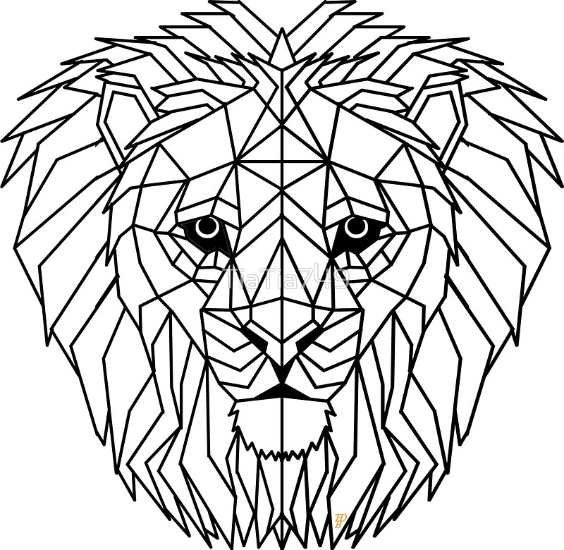geometric lion coloring page see this instagram photo by glimpsegraphicarts 57 lion page coloring geometric