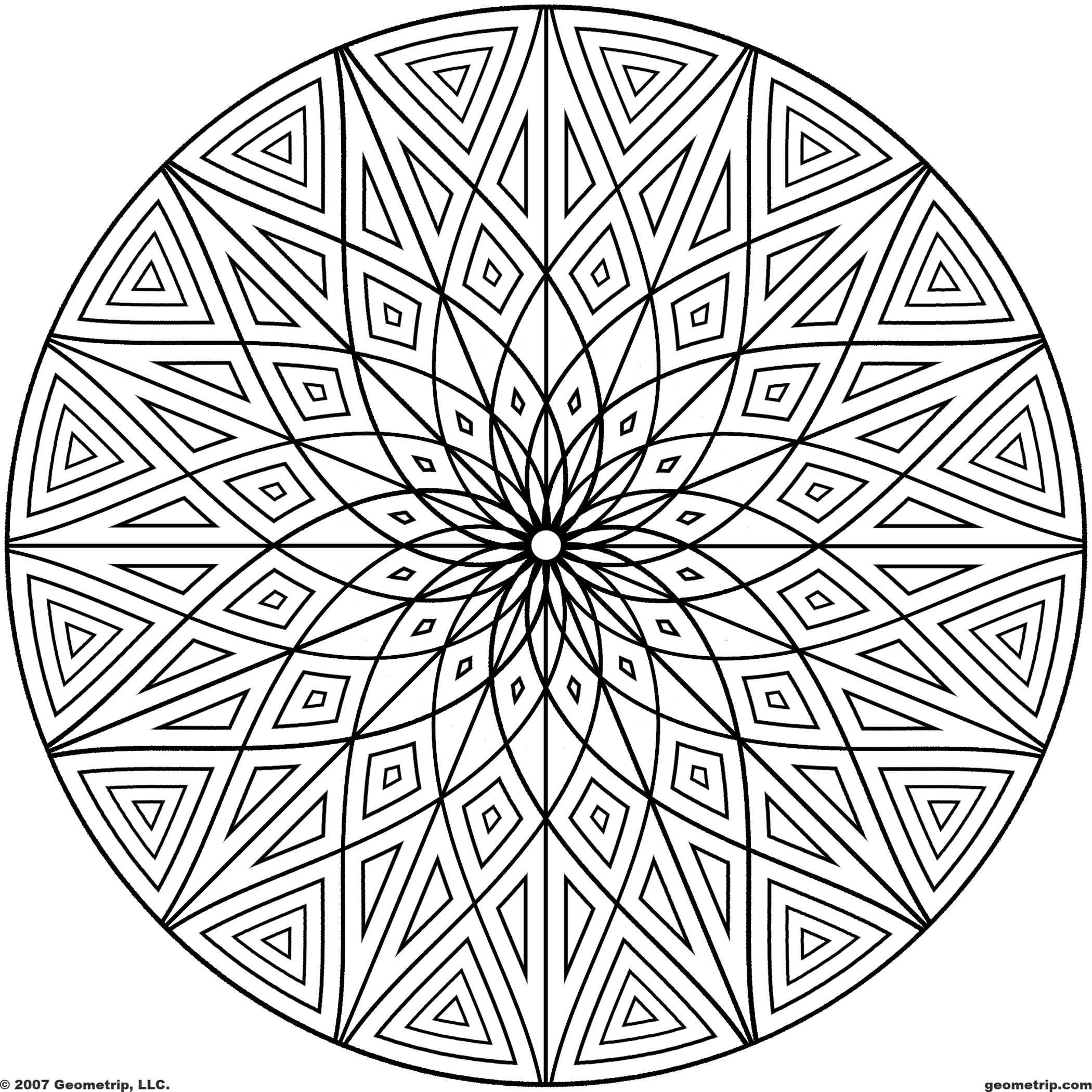 geometric patterns to color free printable geometric coloring pages for adults color geometric patterns to