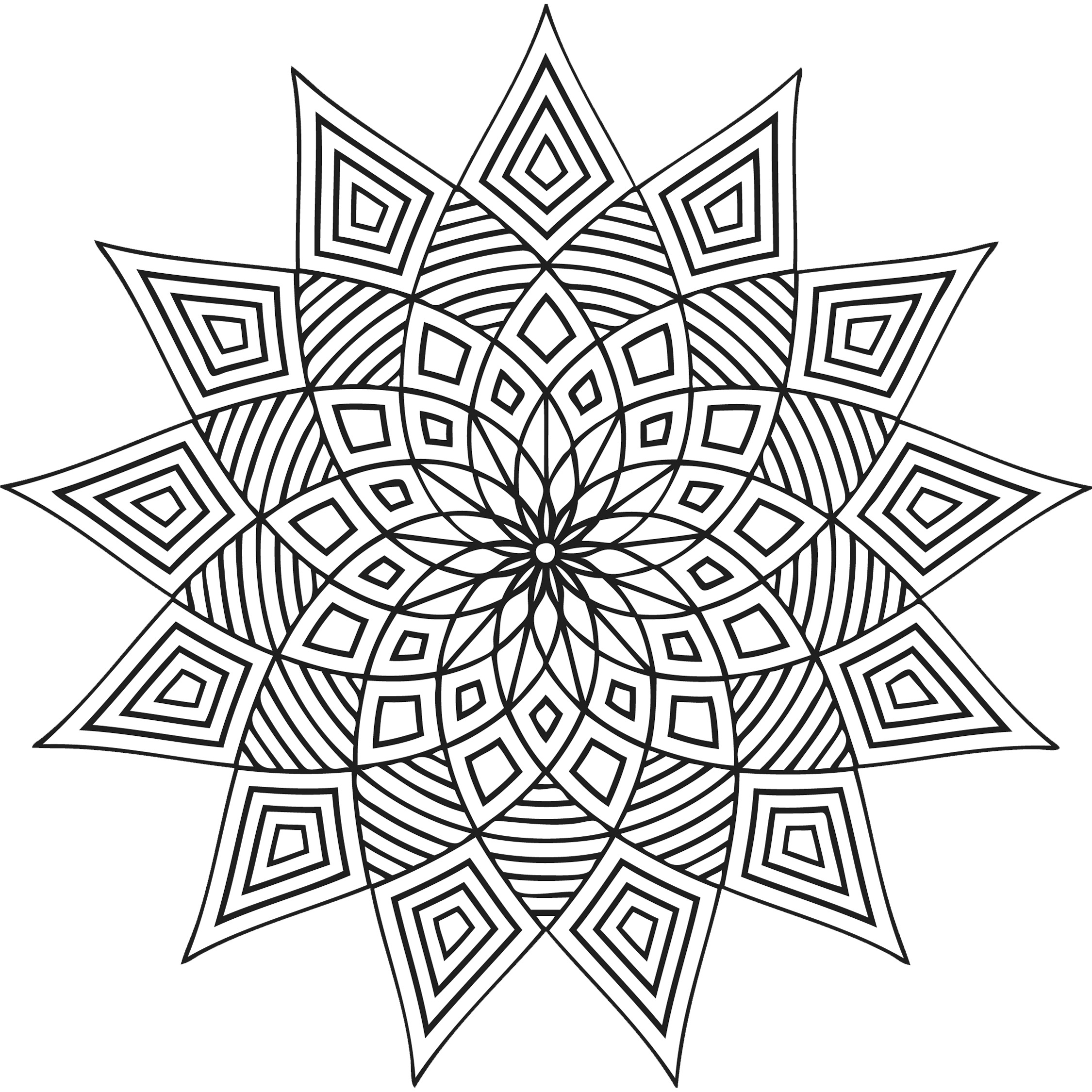 geometric patterns to color free printable geometric coloring pages for adults patterns to color geometric
