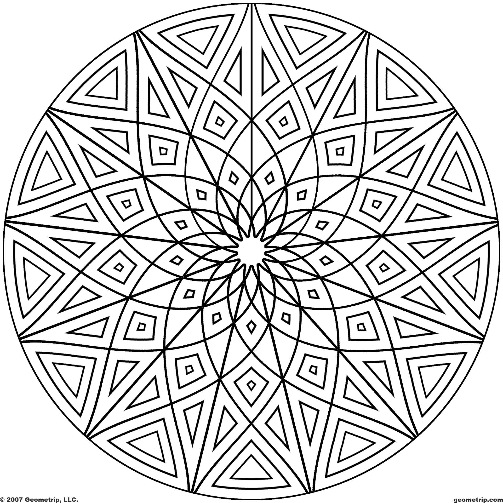 geometric patterns to color free printable geometric coloring pages for kids geometric color to patterns